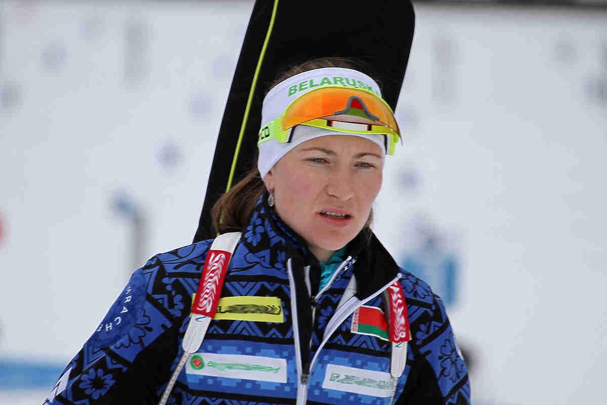 Домрачева и Белоруссия выиграли женскую биатлонную эстафету на Олимпиаде