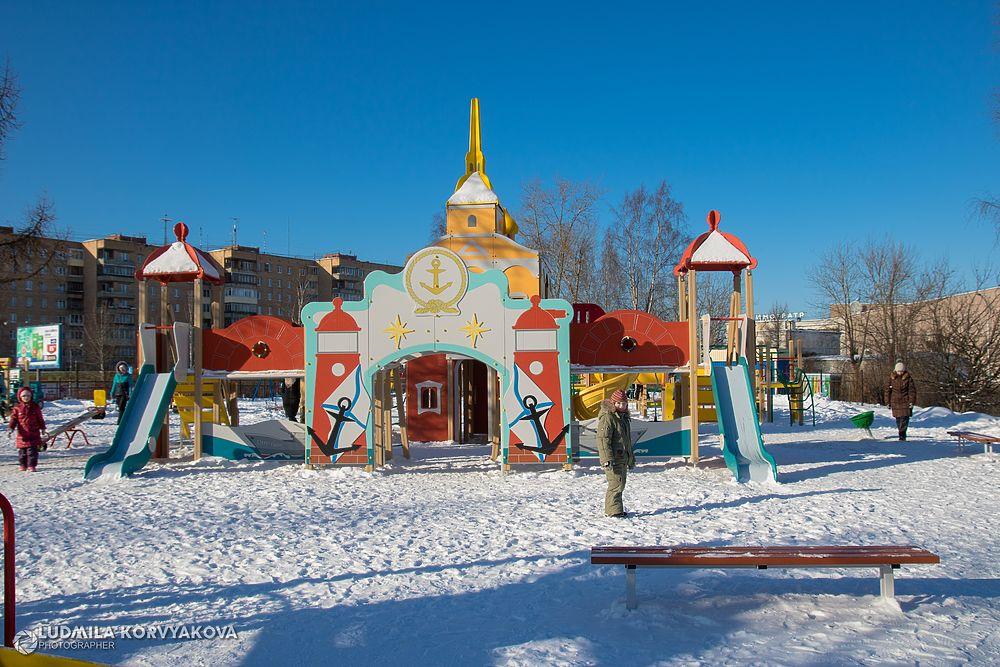 В Петрозаводске открыли «Ленинградскую» детскую площадку