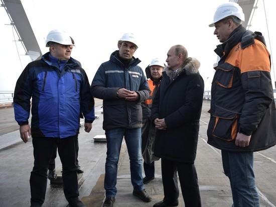 Ротенберг впечатлил Путина деталями строительства Крымского моста