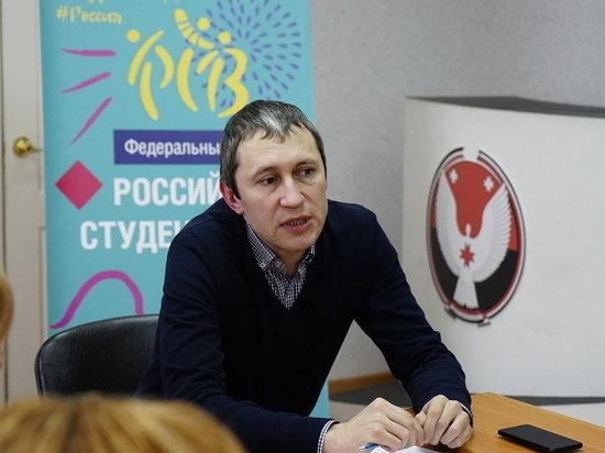 Региональный менеджер «Российской студенческой весны» Руслан Кибешев приехал в Ижевск