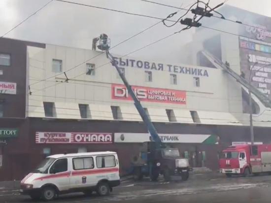 Пожар в коммерческом центре вКемерово: кадры сместаЧП