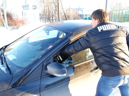 В центре Тамбова угнали автомобиль