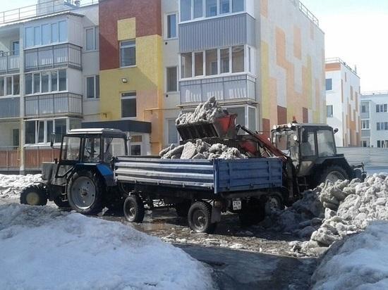 В Ульяновске талыми водами затопило целый микрорайон