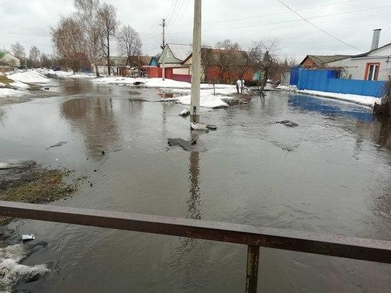 В Курске вновь от стихии пострадала улица Прилужная