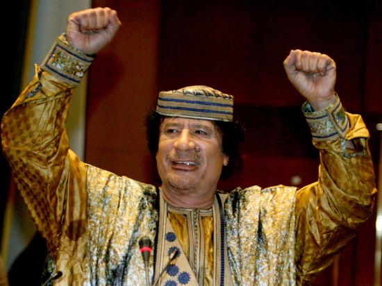 Муаммар Каддафи сказал  наизбирательную компанию Саркози 20млневро