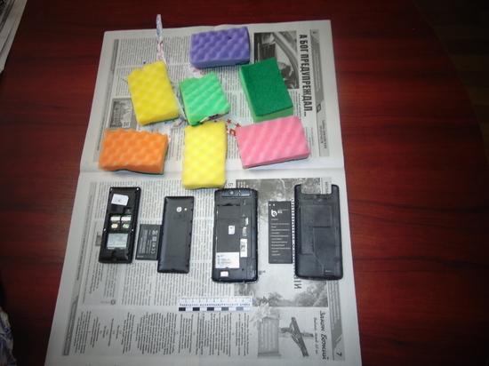 В Астраханскую колонию перебросили сотовые телефоны