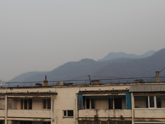Дым лесных пожаров окутал Дальнегорск