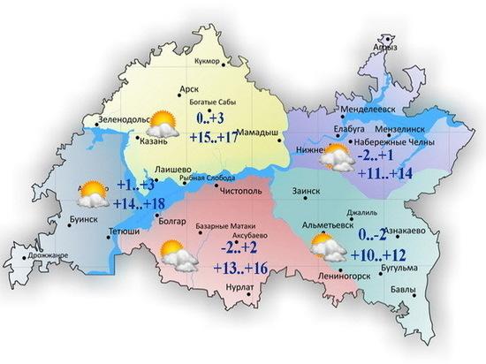 10 апреля в Татарстане будет тепло и очень ветрено