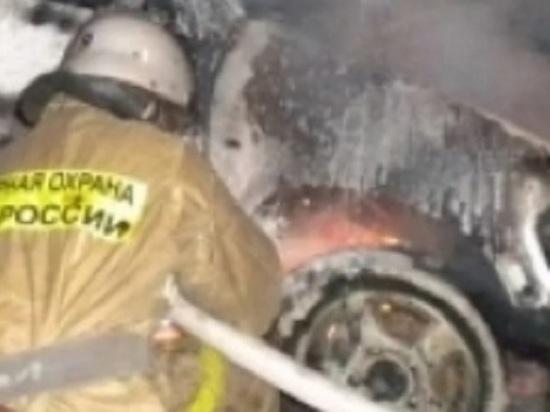 В Оренбурге «Соболь» загорелся во время движения