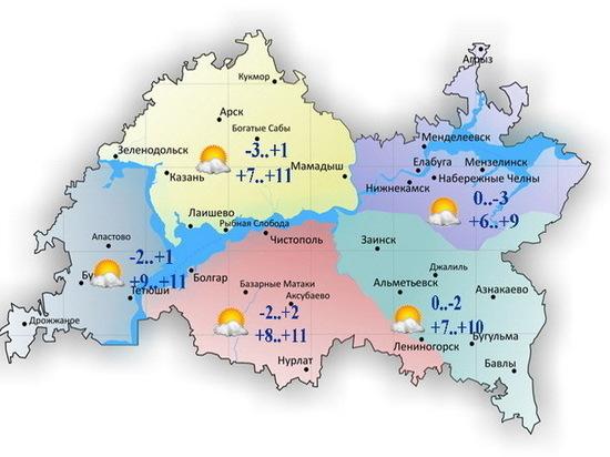 16 апреля в Татарстане будет сухо и тепло
