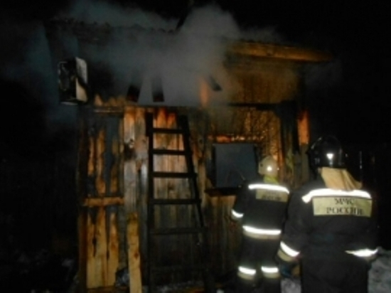 В Тверской области произошёл пожар в 6-тиквартирном доме