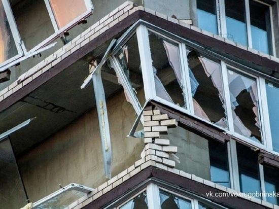Разрушенные во время урагана в Обнинске балконы восстановит застройщик