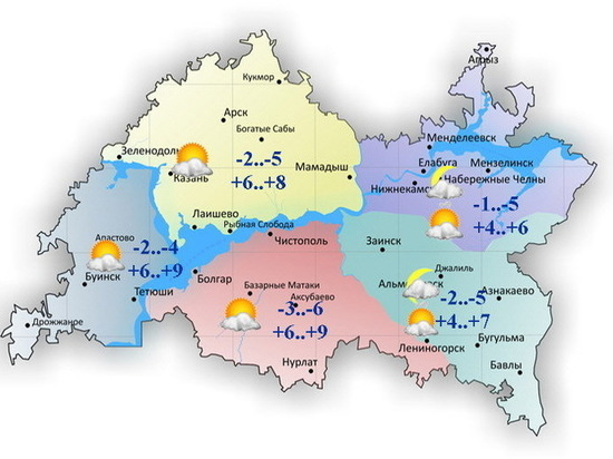 Небольшой снег и гололедица ожидаются 25 апреля по Татарстану
