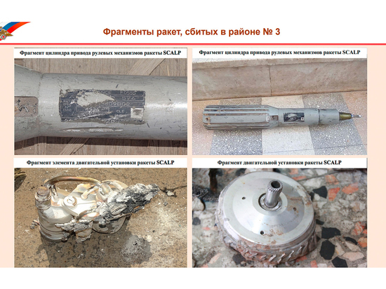 Российская Федерация показала обломки крылатых ракет, которые были выпущены поСирии