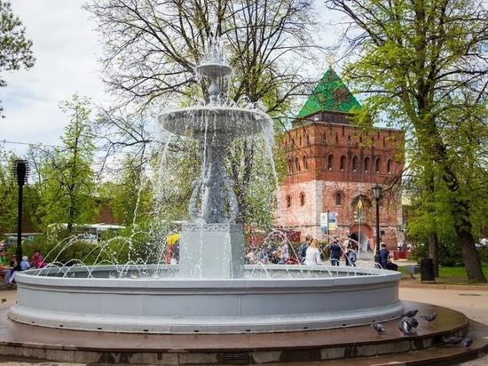 Центральный фонтан в Нижнем Новгороде запустят 28 апреля