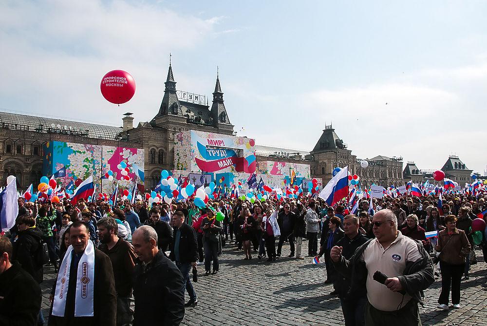 МВД: Первомай на улицах российских городах отпраздновали 3,4 млн человека