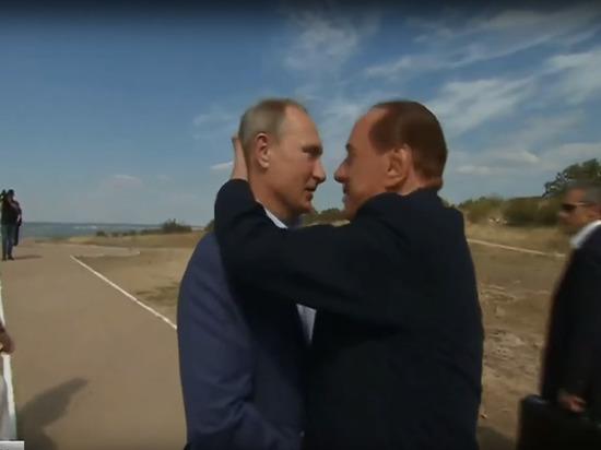 Берлускони,Путин