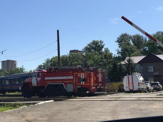 МЧС проводит учения на железной дороге в Мясново