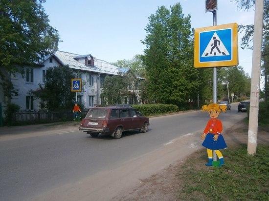 В Кашине Тверской области появились необычные пешеходы