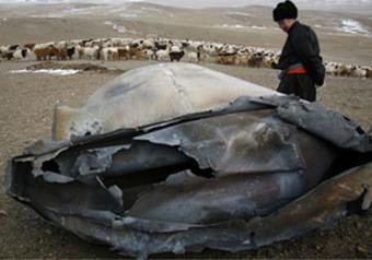 На Монголию упали два НЛО. ФОТО
