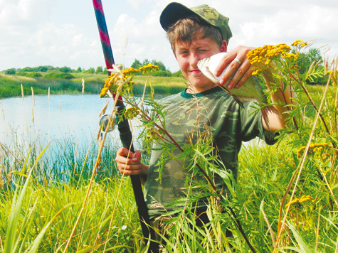 рыбалка на реке луга