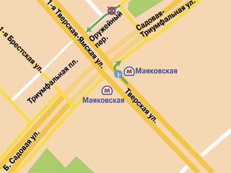 """в районе """"Маяковской""""."""