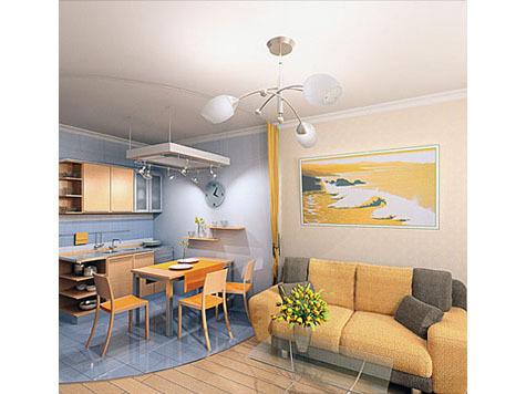 Квартира-студия: доступнее только комната