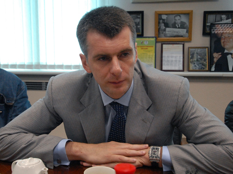 Прохоров идет на Москву