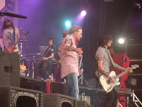 Guns N'Roses начали европейское турне с Москвы