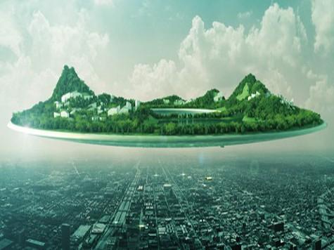 Китайский архитектор предлагает воплотить идею летающего города Свифта в жизнь