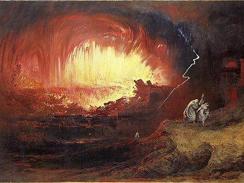 Так уничтожались Содом и Гоморра.
