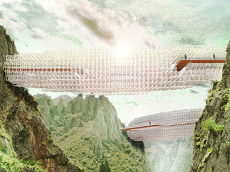 Изощренный мост-облако открывает новую эру в архитектуре