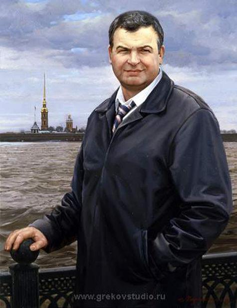 «Дачу Сердюкова» отдадут автору его же портрета и другим художникам