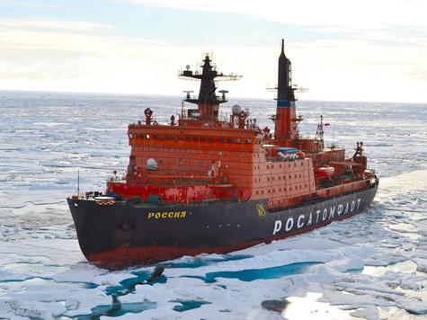 Атом идет сквозь льды