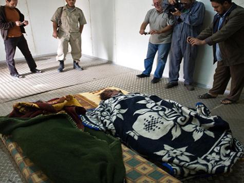 Обнародована видеозапись похорон Каддафи