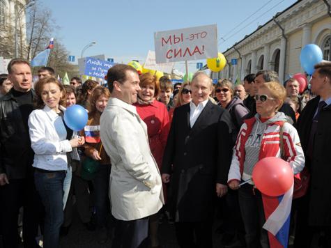 Мир-труд-пиво-Путин и Медведев