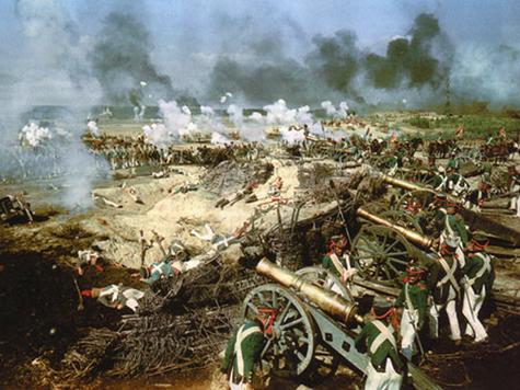 Так представлена Бородинская битва в фильме «Война и мир».