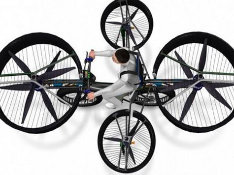 Инженеры из Чехии сконструировали летающий велосипед