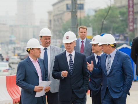 сергей собянин кутузовский проспект ттк путепровод строительство дорог можайское шоссе.