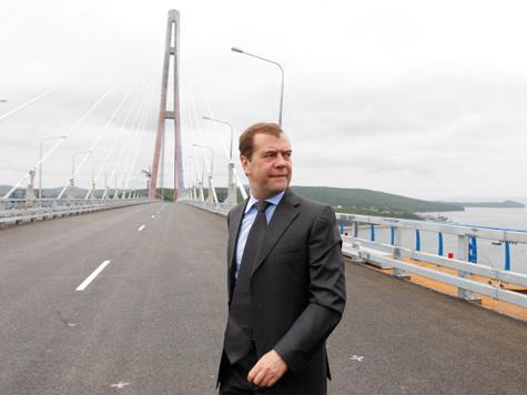 Медведев проверил на прочность мост через Босфор