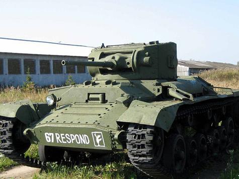 Из московского двора утащили запчасти к танку
