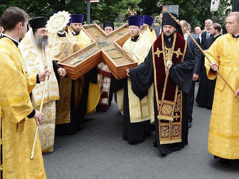Крест Андрея Первозванного доставлен в Одинцово