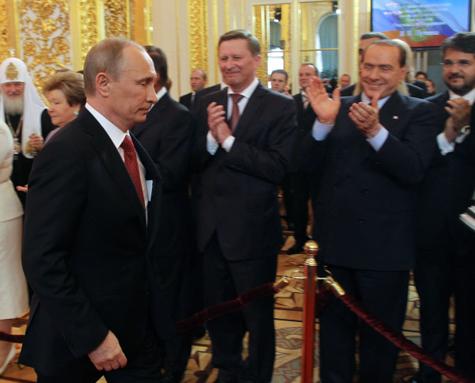 Берлускони вМоскве иМилане