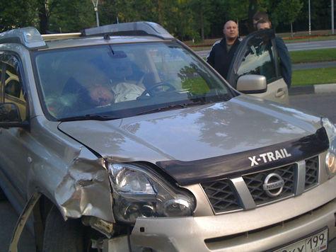 Лихач, разбивший восемь машин на Ленинском проспекте, праздновал рождение сына
