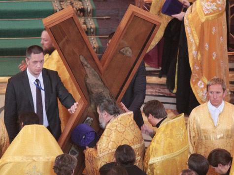 Великая христианская святыня – крест Андрея Первозванного – на несколько дней оказалась в Москве