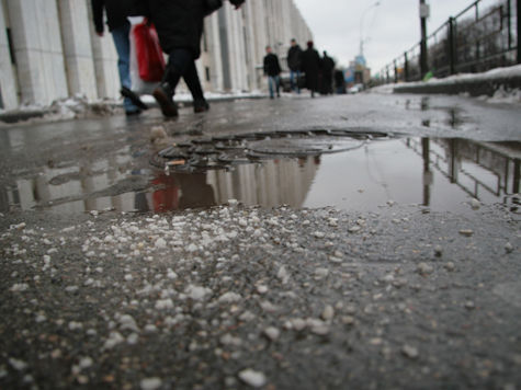 Столичные улицы посыпают радиоактивным веществом