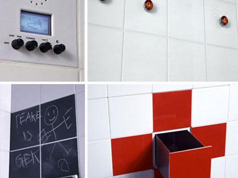 Функциональная 3D плитка для небольших ванных комнат