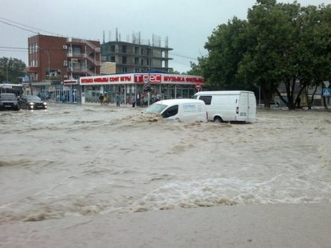 Краснодарский край. Большая вода уходит