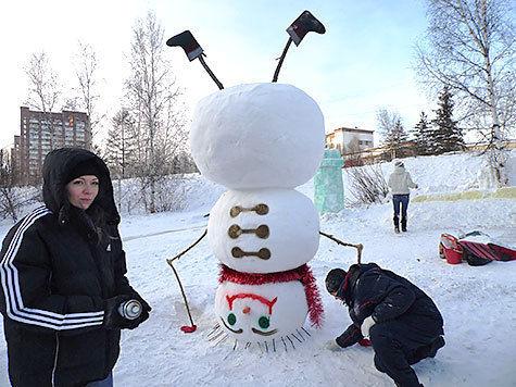 Снежные городки своими руками фото