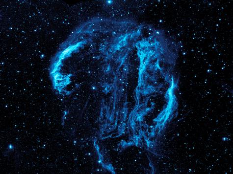 В космосе сфотографирована туманность, напоминающая человеческую голову